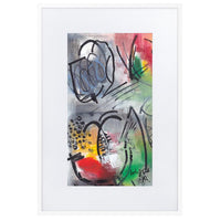 Tulips in Abstract Art Print