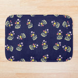 Beautiful Handpainted Watercolour Tulips Bath Mat