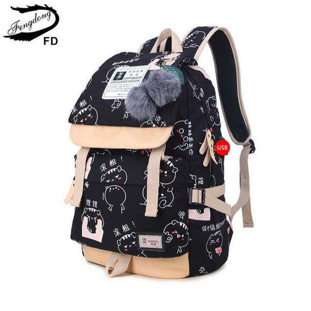 6b233b0f933c Girls Stylish Backpacks for School, Travel, Laptop with USB Charging Port
