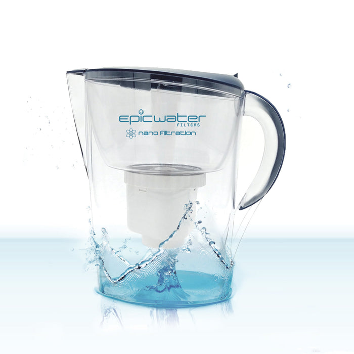 Epic Nano Water Filter Pitcher | Navy | Removes Bacteria
