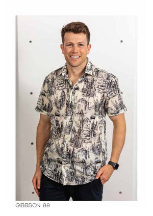 LFD Vintage Gibbston Short Sleeve Shirt - Black