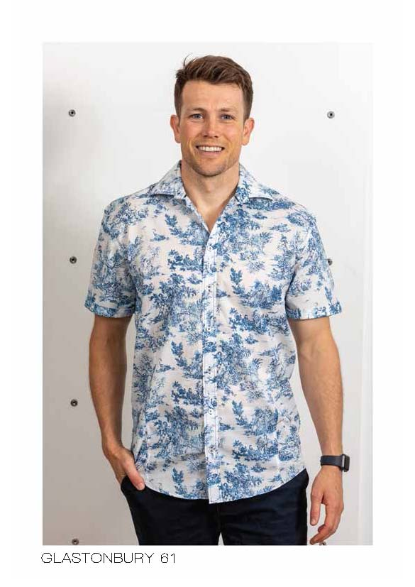 LFD Vintage Glastonbury Short Sleeve Shirt - Blue