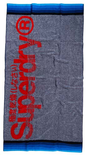 Superdry Sun Rider Towel - Dark Navy Marl