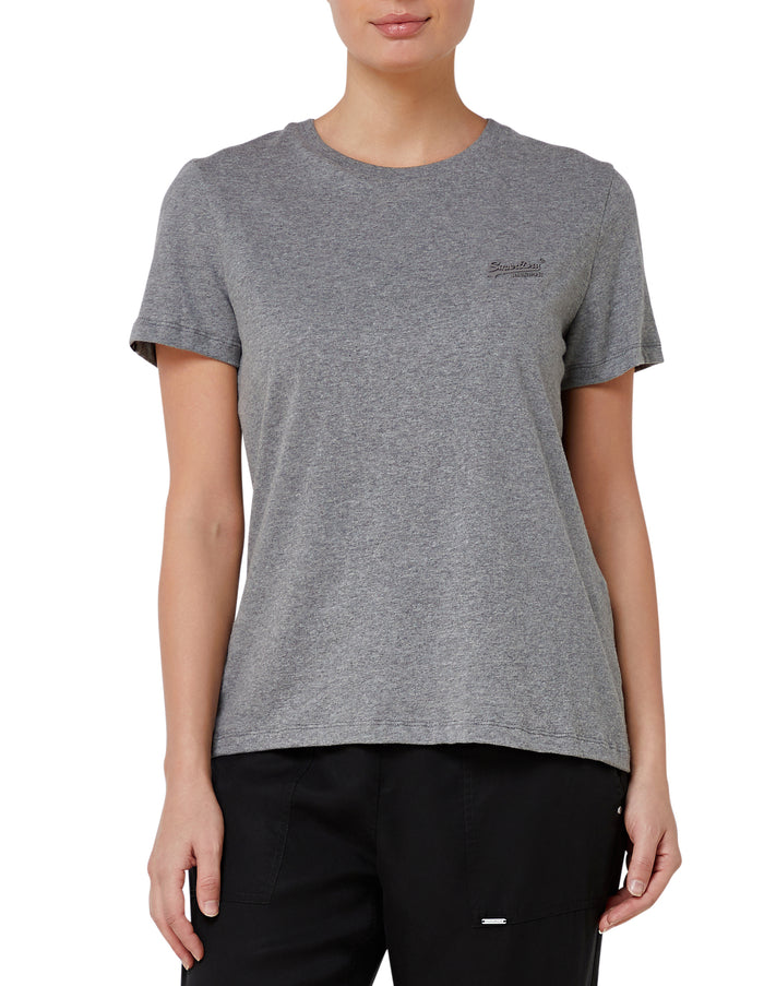 Superdry Orange Label Elite Crew Tee - Charcoal Marle
