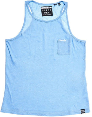 Superdry Orange Label Essential Tank Top - Cruz Blue