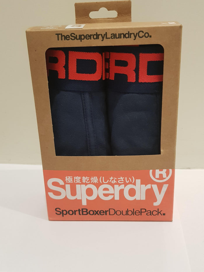 Superdry Orange Label Sport Boxer Double Pack - Richest Navy
