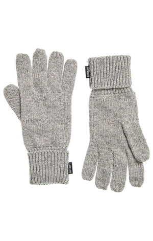 Superdry Heritage Ribbed Gloves - Light Grey Marle
