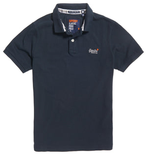 Superdry Classic Pique Polo - Navy