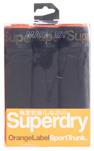 Superdry Sport Trunk Triple Pack - Black