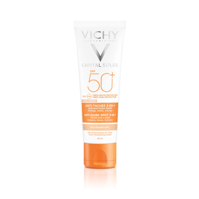 Vichy Capital Soleil Anti-Dark Spots sävytetty aurinkosuojavoide SPF50