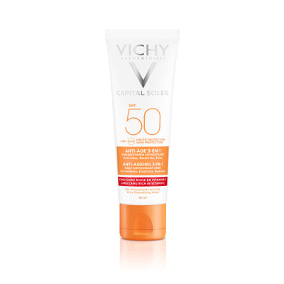 Vichy Capital Soleil Anti age 3-in-1 antioksidanttinen aurinkosuojavoide SPF50