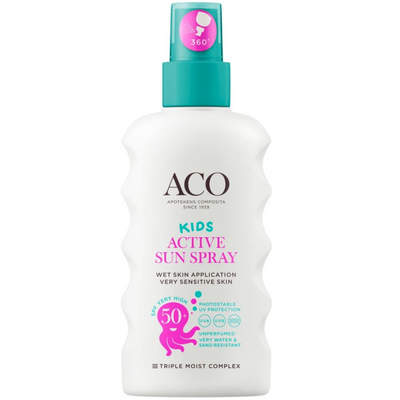 ACO Sun Kids Active Sun Spray SPF50+ -aurinkosuojaspray lapsille