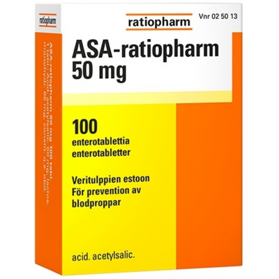 ASA-ratiopharm 50 mg