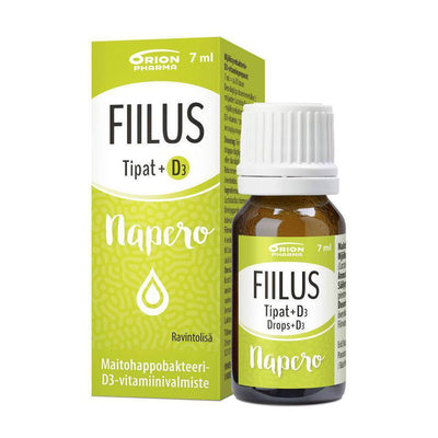 FIILUS NAPERO DROPS +D3 7 ml