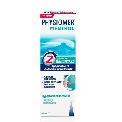 PHYSIOMER MENTHOL avaava nenäsumute 20 ml