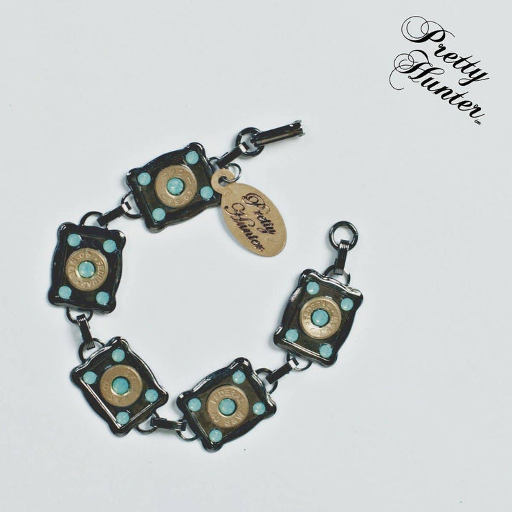 Sophisticated & Sassy' Bullet & Turquoise Bracelet - Forever Western Boutique