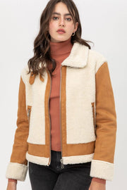Suede Sherpa Jacket - Forever Western Boutique