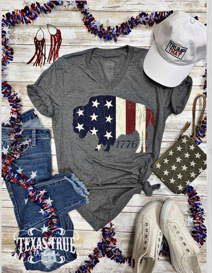 Patriotic CREW neck Tee - Forever Western Boutique