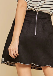 Black Suede Skirt - Forever Western Boutique