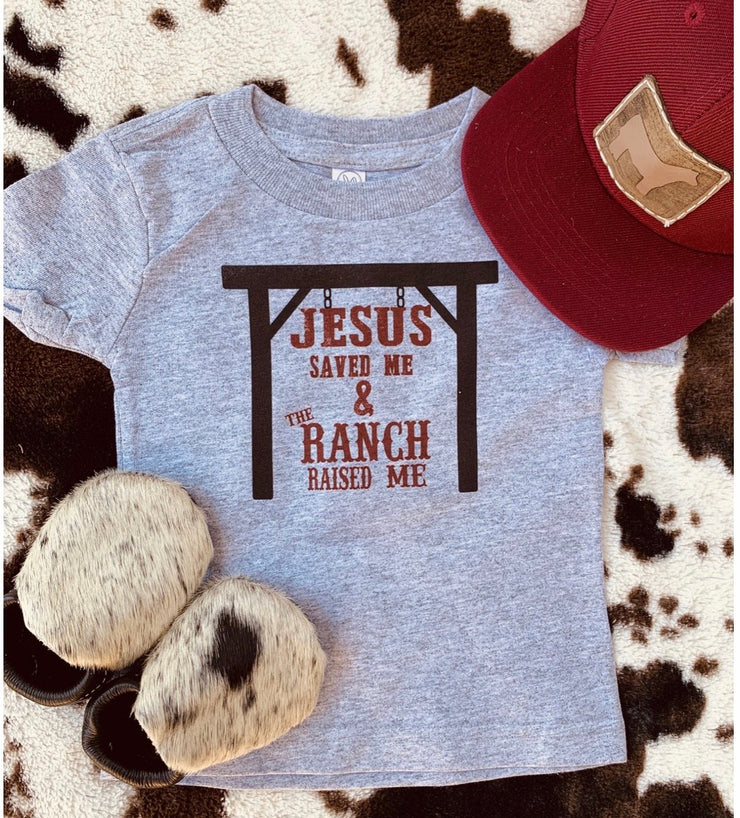 Jesus Saves & Ranch Raised Tee - Forever Western Boutique