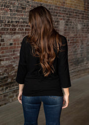 Black Dolman Top - Forever Western Boutique