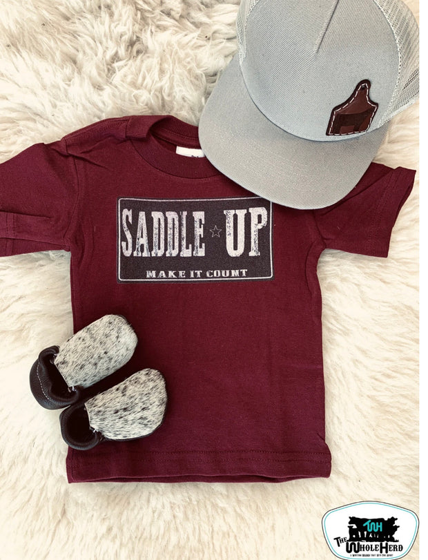 Saddle Up Make It Count Tee - Forever Western Boutique