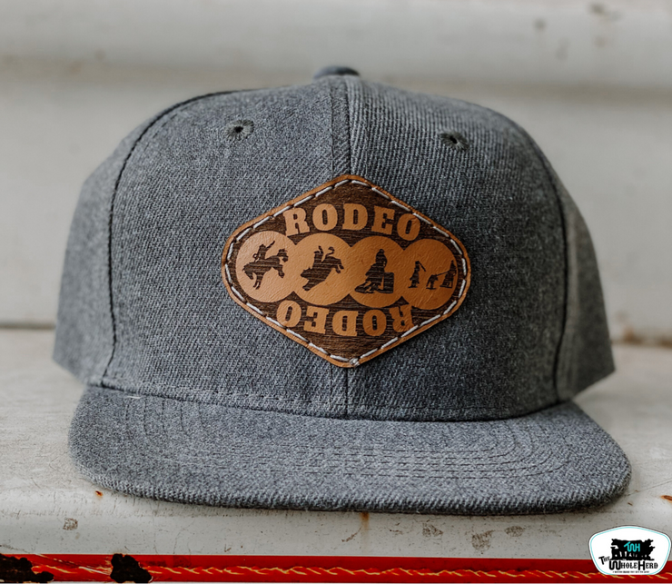 Infant Leather Patch Throwback Cap-Rodeo - Forever Western Boutique