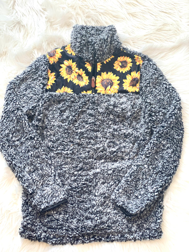 Kids Sunflower Sherpa - Forever Western Boutique