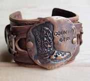 Leather Hand Cuff/Bracelet - Forever Western Boutique