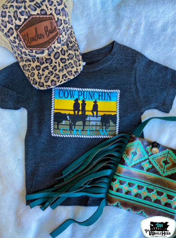 Cow Punchin' Crew Kids Tee - Forever Western Boutique