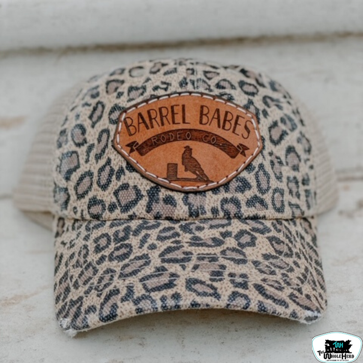 Women's Leather Patch Throwback Cap-Barrel Babe - Forever Western Boutique