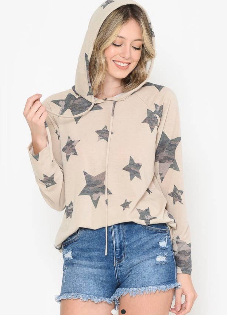 Star Camo Hoodie - Forever Western Boutique