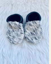 Cowhide Mocs-black and white - Forever Western Boutique