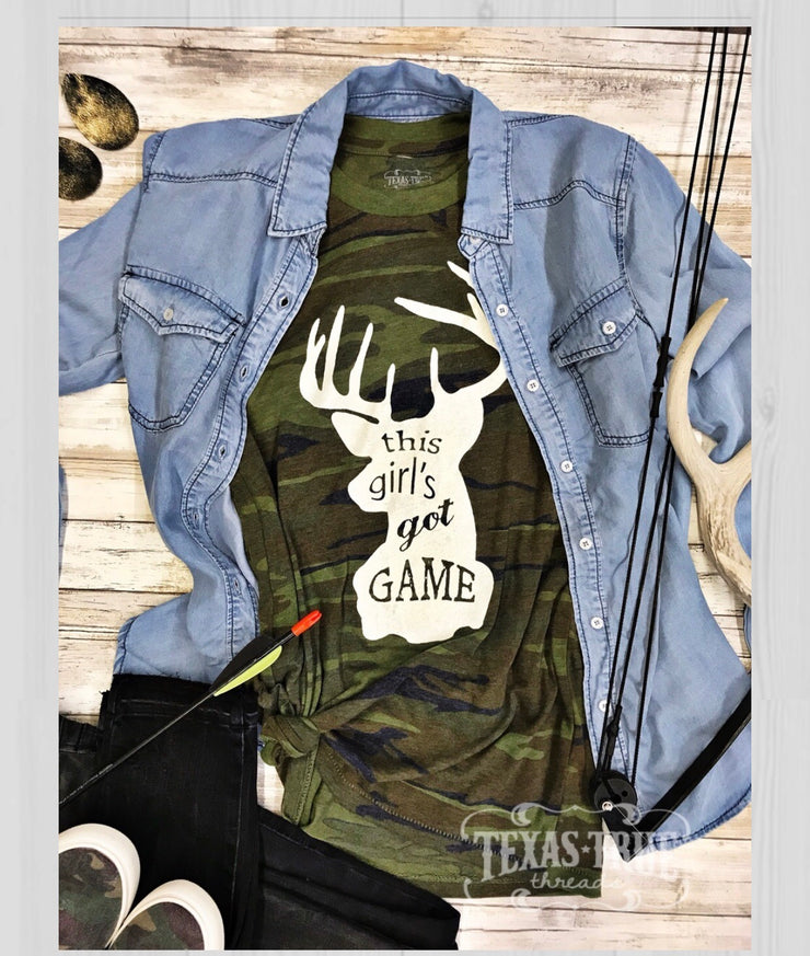 Camo this girl got game tee - Forever Western Boutique