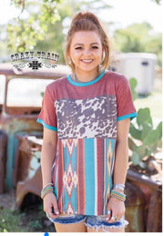 Estacado Top-Crazy Train - Forever Western Boutique