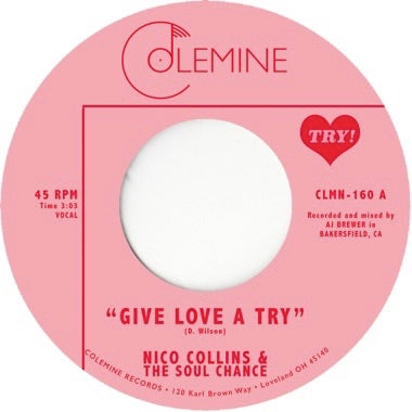 THE SOUL CHANCE - GIVE LOVE A TRY Vinyl 7
