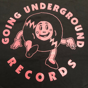 GOING UNDERGROUND - RECORD GIRL SHIRT (BLACK / PINK)