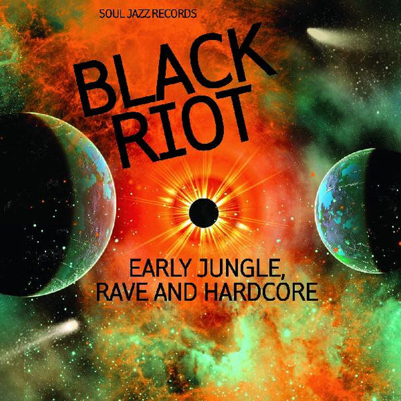 V/A: BLACK RIOT - EARLY JUNGLE, RAVE & HARDCORE Vinyl 2xLP