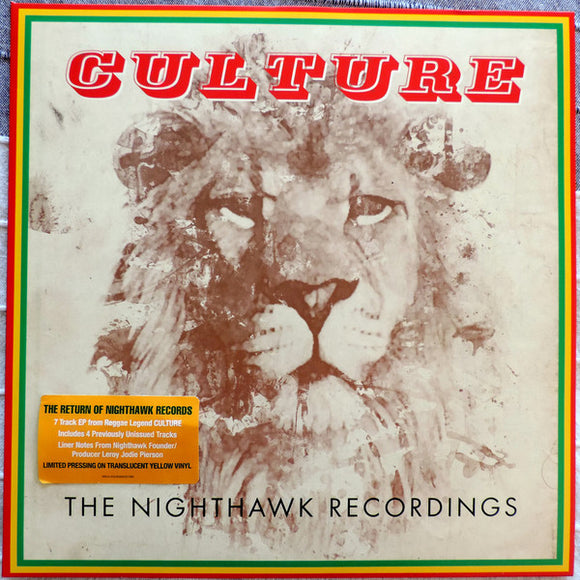 CULTURE - NIGHTHAWK RECORDINGS LP