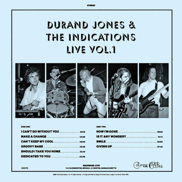 DURAND JONES & THE INDICATIONS - LIVE VOL 1 LP