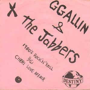 GG ALLIN & THE JABBERS - 1980'S ROCK N ROLL Vinyl 7