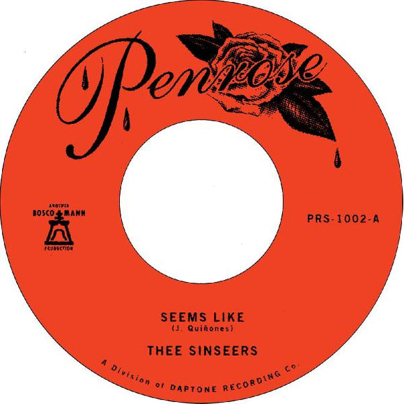 THEE SINSEERS - SEEMS LIKE Vinyl 7