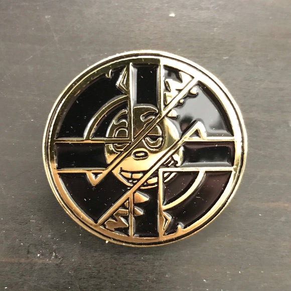 RECORD BOY CRASS ADVERTISEMENT 1.5 Gold Enamel Pin