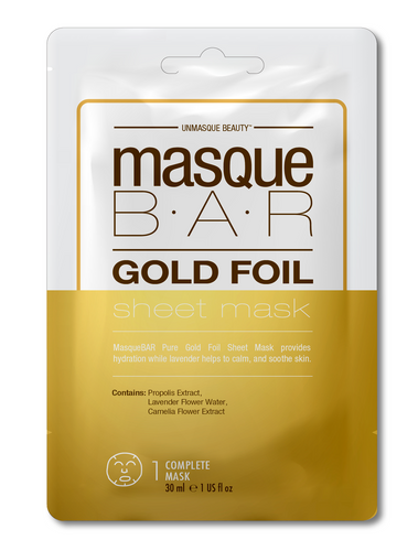 Masque Bar Gold Foil Sheet Mask Hidratante 30ml