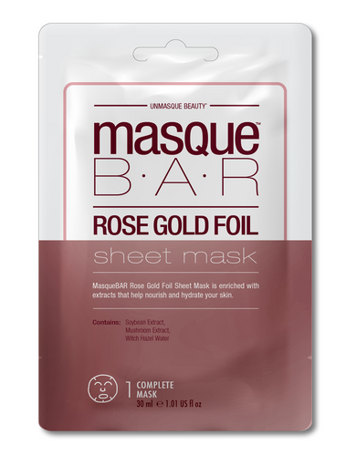 Masque Bar Rose Gold Foil Sheet Mask Revitilazante 30ml