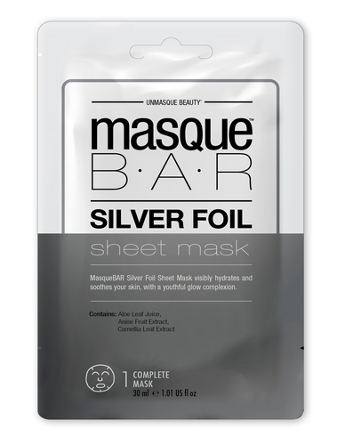 Masque Bar Silver Foil Sheet Mask Iluminador 30ml