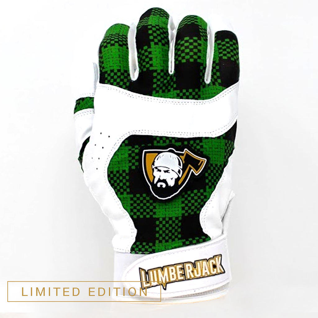 Batting Gloves - Plaid Green