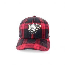 canadian-baseball-softball-gear-flexfit-snapback-hats-grey-black-red-plaid-lumberjack-sports