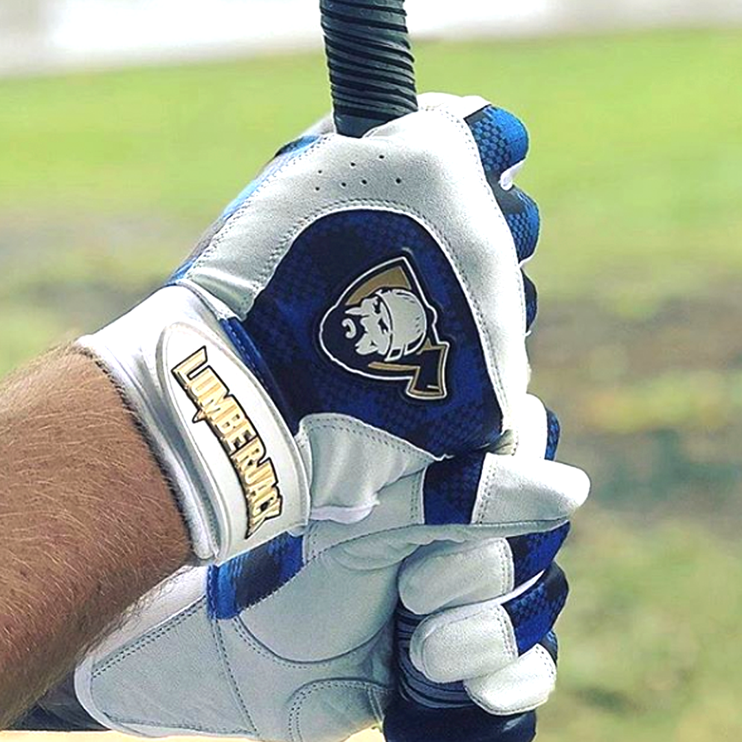 Batting Gloves - Plaid Blue
