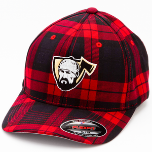 Red Check Snapback